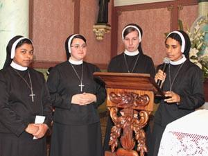 Noviças emitem os primeiros Votos Religiosos