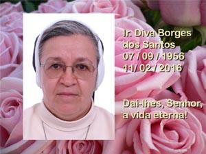 Ir. Diva Borges dos Santos retorna ao Céu