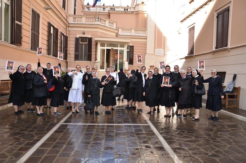 Muita alegria na chegada das Irmãs em Roma